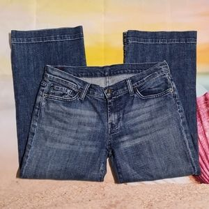 7 For all Mankind Dojo Cropped Jeans Size 30